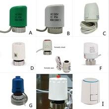 24v 230v nenhuma cabeça da válvula do atuador térmico bonde do nc para o radiador de aquecimento underfloor do distribuidor do termostato normalmente aberto fechado