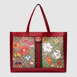 Gucci Ophidia GG Flora Medium Tote Tasche 547947 HWHAC 8722 Frauen Schulter Tasche Weiblichen Große Totes Handtaschen Frauen s Große stamm