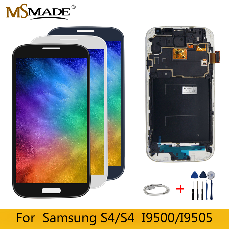 <font><b>S4</b></font> LCD For <font><b>Samsung</b></font> <font><b>Galaxy</b></font> <font><b>i9500</b></font> Display i9505 i9506 <font><b>i9500</b></font> LCD <font><b>Touch</b></font> Display <font><b>Screen</b></font> Digitizer Assembly Parts Free Shipping image