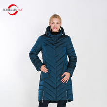 MODERN NEW SAGA Female Warm Winter Overcoat Women Thick Cotton Padded Jacket Zipper Long Style Parkas Camperas De Invierno Mujer