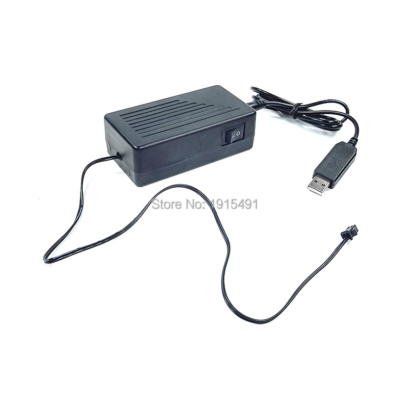 Hot DC-5V USB EL wire inverter powered by Computer or Mobile battery for driving Flashing for holiday lighting Decoration