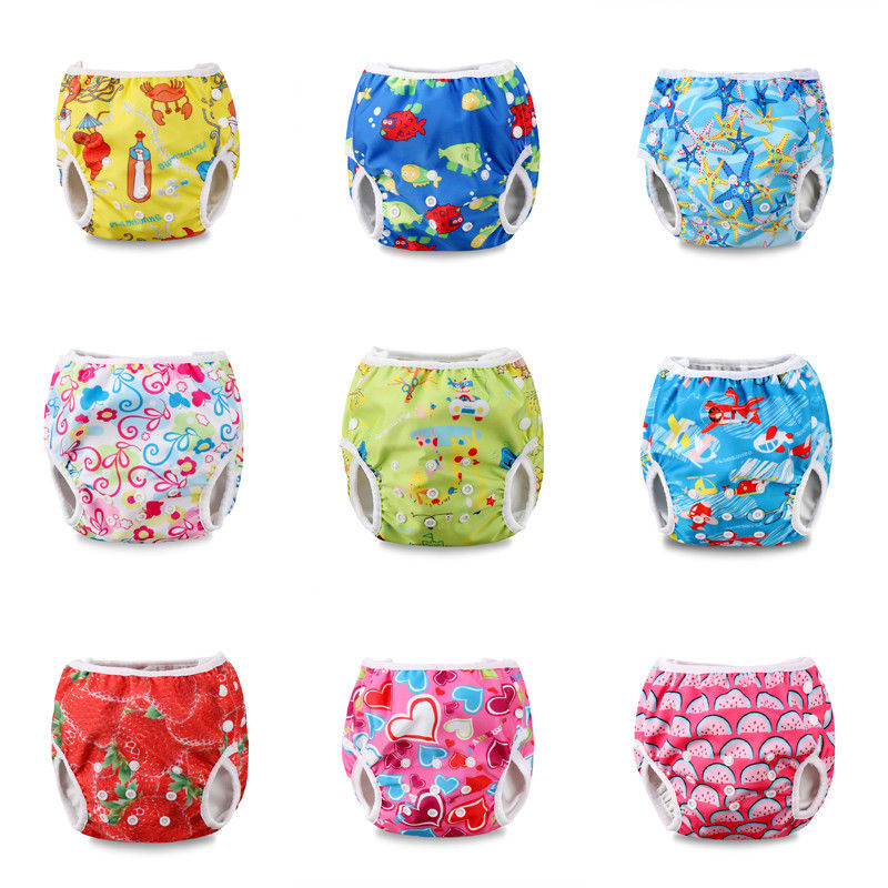 Pudcoco Cute Adjustable Infant Baby Cloth Diapers Summer Cartoon Swim Diaper Trunks Waterproof Swimwear Baby Clothes Accessories