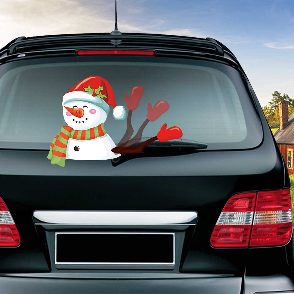 Christmas Halloween Car Decorations Waving Wiper Decal PVC Car Styling Rear Window Wiper Stickers Rear Windshield Stickers Decal