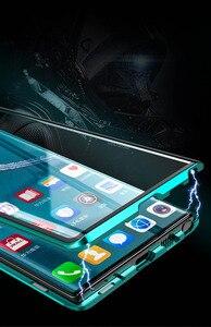 Image 5 - Magnetische Doppel Seite Gehärtetem Glas Fall Für Samsung Galaxy Note 10 Pro Plus Fall Stoßfest Harte Rüstung Metall Stoßfänger Abdeckung s20