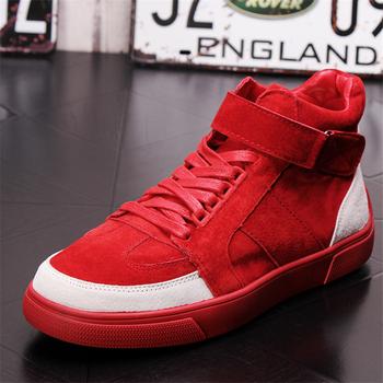 Męskie obuwie skórzane buty męskie modne trampki męskie buty modne skórzane buty buty za kostkę oryginalne skórzane buty męskie tanie i dobre opinie Ktip up Gumowe Dla dorosłych Stałe Wiosna jesień Skóra bydlęca Prawdziwej skóry Masaż Świńskiej Przypadkowi buty