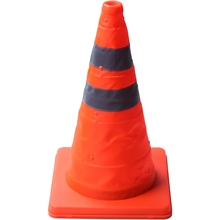 Movement Reflective-Cone Traffic Warning 40cm Convenient-Storage Retractable Collapsible