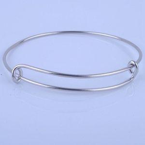 Image 1 - 100 pçs venda quente metais cor de ouro prata cor diy pulseira para contas ou encantos ajustável expansível pulseiras de fio