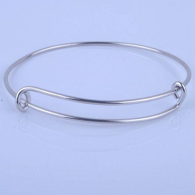 100 pçs venda quente metais cor de ouro prata cor diy pulseira para contas ou encantos ajustável expansível pulseiras de fio