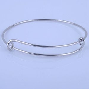 Image 1 - 100pcs Hot Sale Metals Gold color Silver color DIY Bangle for Beads or Charms Adjustable Expandable Wire Bracelets Bangles