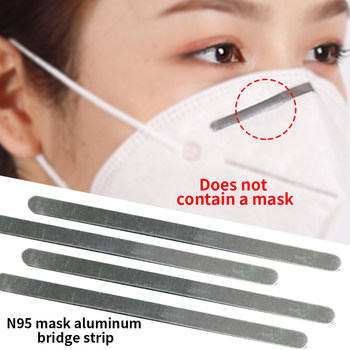 100pcs Durable Nose Bridge Strip with Adhesive Outdoor Sport Face Mask for N95 100PCS Aluminum Riding 90mm Epidemic Prevention