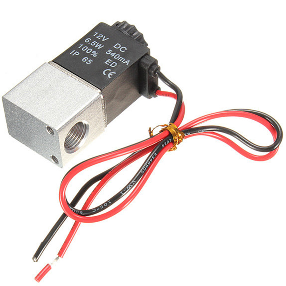 Best Price DC 12V 1/8 2 Way Normally Closed Electric Solenoid Air  Pneumatic Aluminum For Air Gas Liquid Water
