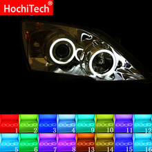 Nieuwste Koplamp multi-color RGB LED Angel Eyes Halo Ring Eye DRL RF Afstandsbediening Voor HONDA CR-V CRV 2007-2011 Accessoires(China)