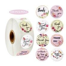 8 конструкций зелени цветок спасибо наклейки печать этикеток для упаковки украшения свадебные наклейки школьные принадлежности