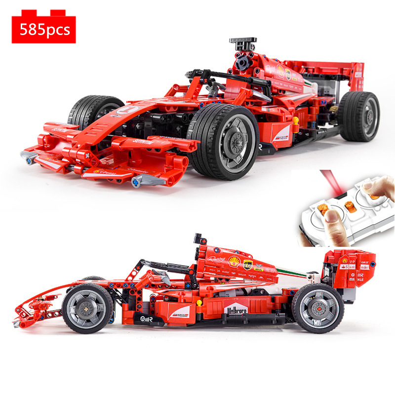 Technic RC remote control supercar Building Blocks Kit Bricks Classic Model F1 formula Racing Car Kids Toys for Children gifts image