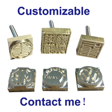 Customized Logo Cake Leather Stamp Copper Branding Mold Engraving Hot Stamping Iron Mold Embossing Tool Leather Punch Print Tool