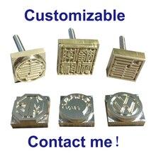 โลโก้ที่กำหนดเองเค้กหนังแสตมป์ทองแดงแบรนด์แม่พิมพ์แกะสลักHot Stampingเหล็กแม่พิมพ์ลายนูนเครื่องมือหนังPunchเครื่องมือ