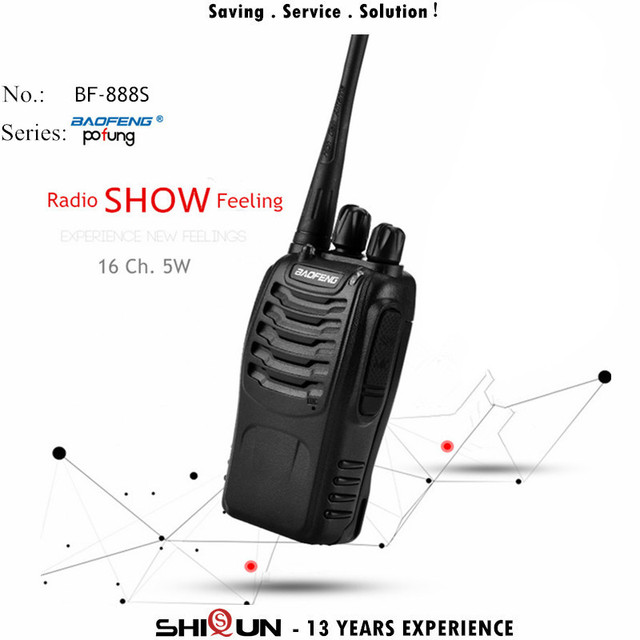 1PC or 2PCS Baofeng BF-888S Walkie Talkie 888s UHF 5W 400-470MHz BF888s BF 888S H777 Cheap Two Way Radio with USB Charger H-777 3
