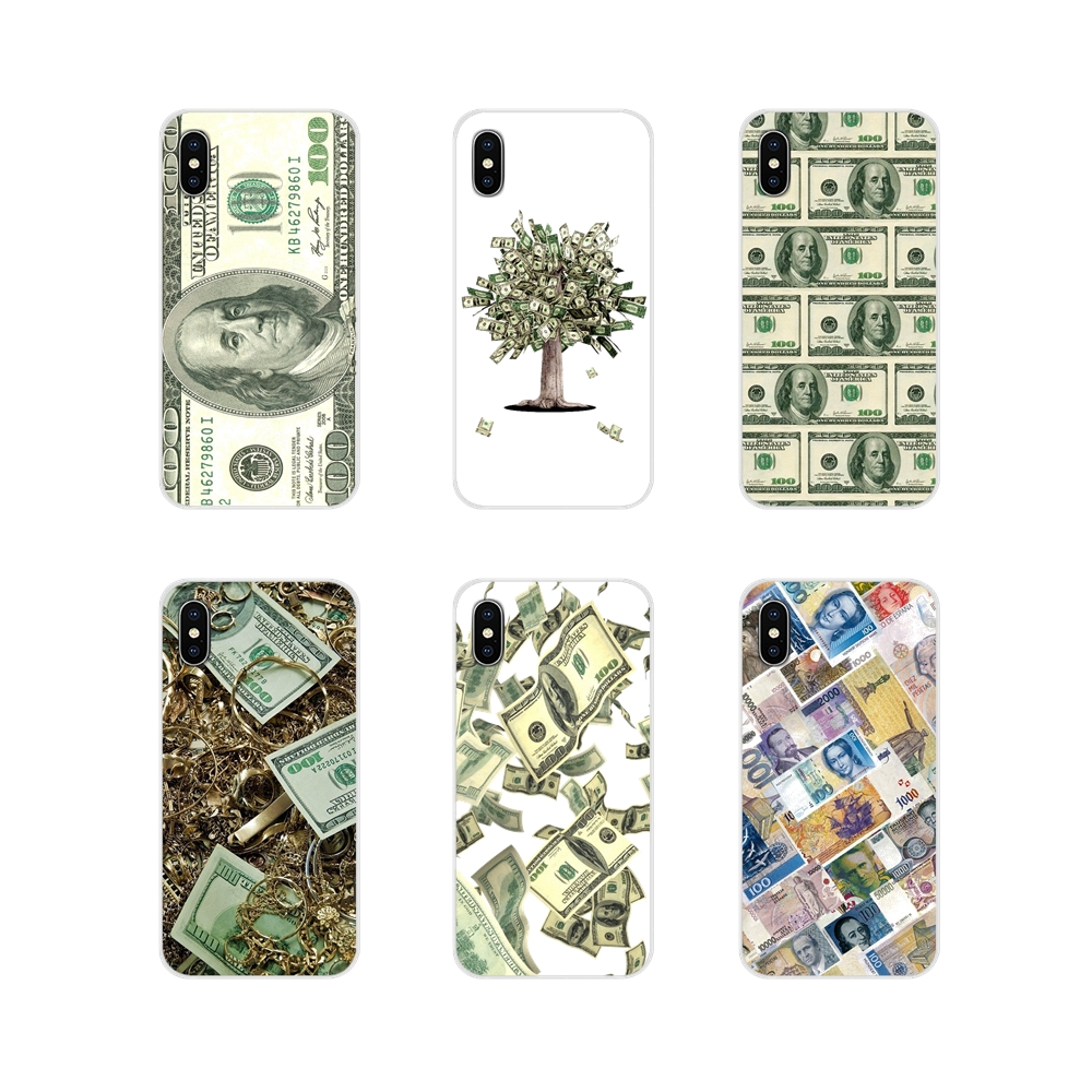 One Hundred <font><b>Dollar</b></font> Bill cosplay money For Apple iPhone X XR XS 11Pro MAX 4S 5S 5C SE 6S 7 8 Plus ipod touch <font><b>5</b></font> 6 <font><b>Phone</b></font> Shell Case image