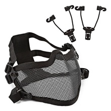 New Half Face Mask Breathable Soft Folding Mesh Mouth Protector Cycling Helmet Outdoor Sports Accessories