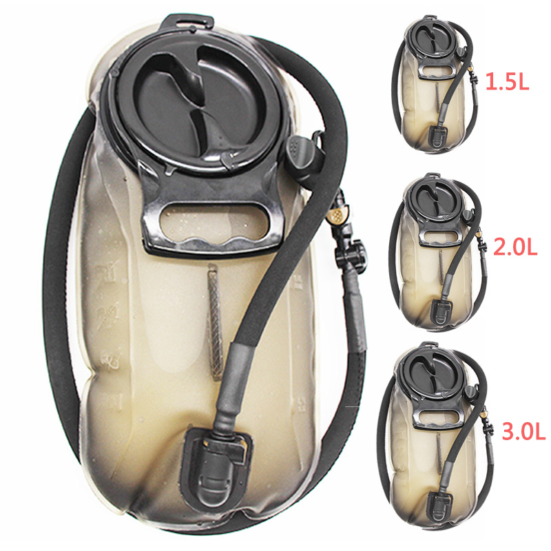 1.5L 2L 2.5L 3L Drinking System Water Bag Hiking Climbing Desert Survival Tool Water Bags Folding TPU Bladder Outdoor Portable
