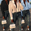 Womens Tops Blouses Elegant Long Sleeve See-through Sheer Mesh Polka Dot Loose OL Shirt Ladies Chiffon Blouse Summer blusa 3