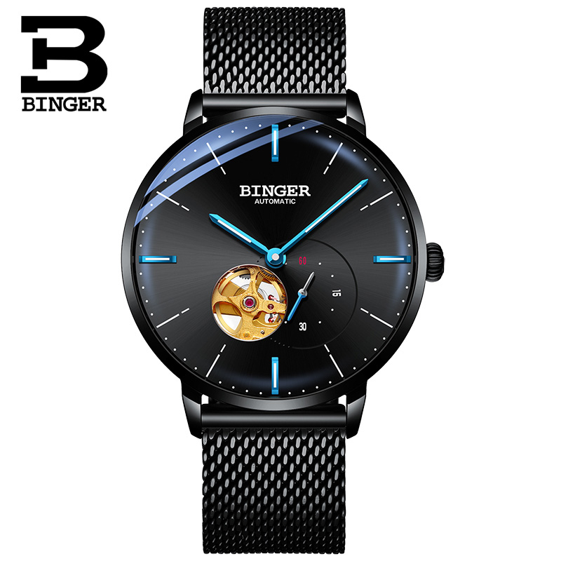 Luxury Man BINGER Automatic Watch Mechanical Self Winding Men Sapphire Crystal Watches mekanik kol saati relogio automatico
