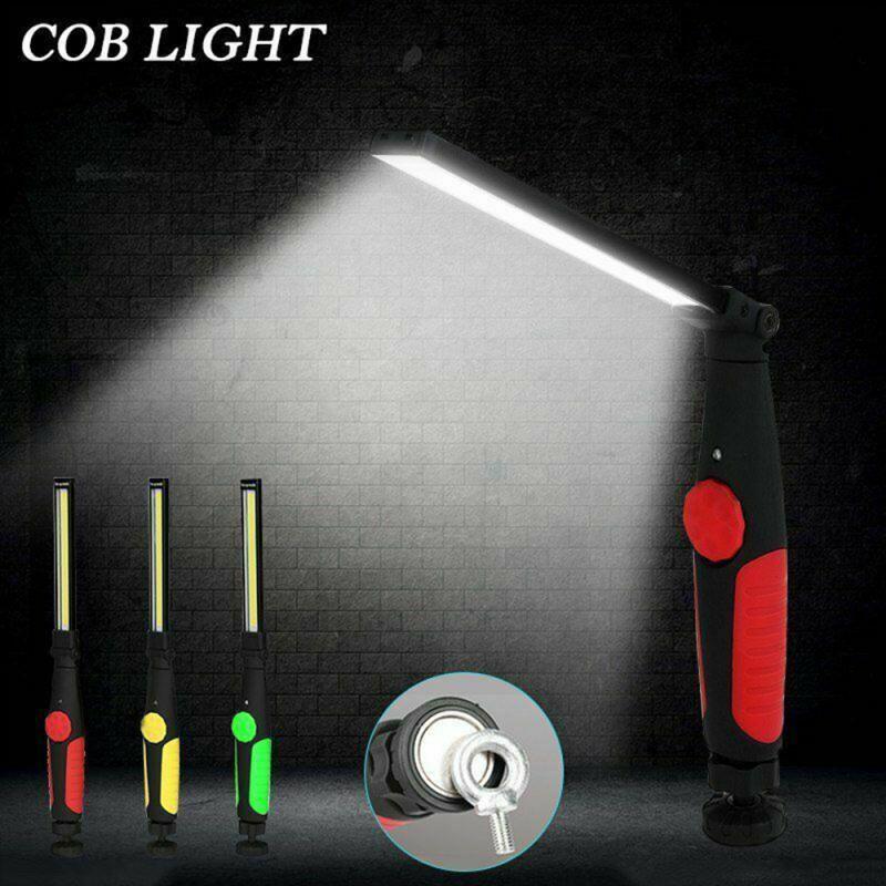COB רצועת עבודת אור 360 תואר משולב USB נטענת פנס קמפינג עבודת אור מגנטי COB פנס