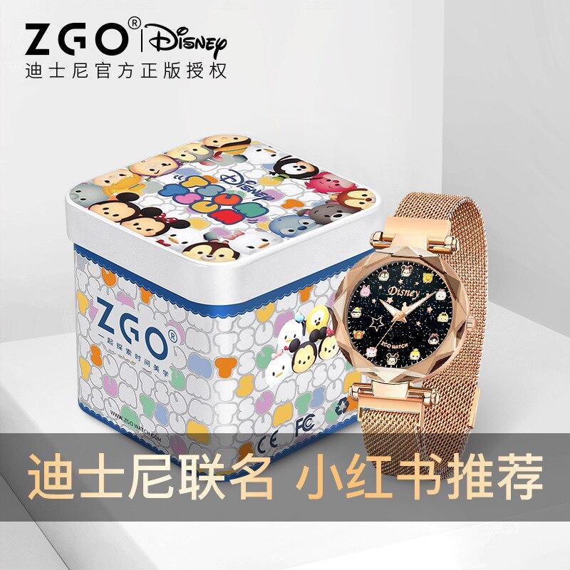 Disney оригинал +2020 новый часы женский Ins ветер студент водонепроницаемый женский тонкий ремешок маленький звезда воздух качество простой