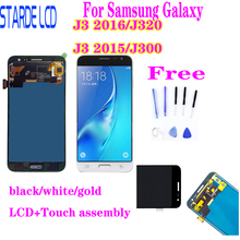For Samsung Galaxy J3 2016 J320 J320A J320F J320M J3 2015 J300 LCD Display With Touch Screen Digitizer Assembly adjust the brigh цена и фото