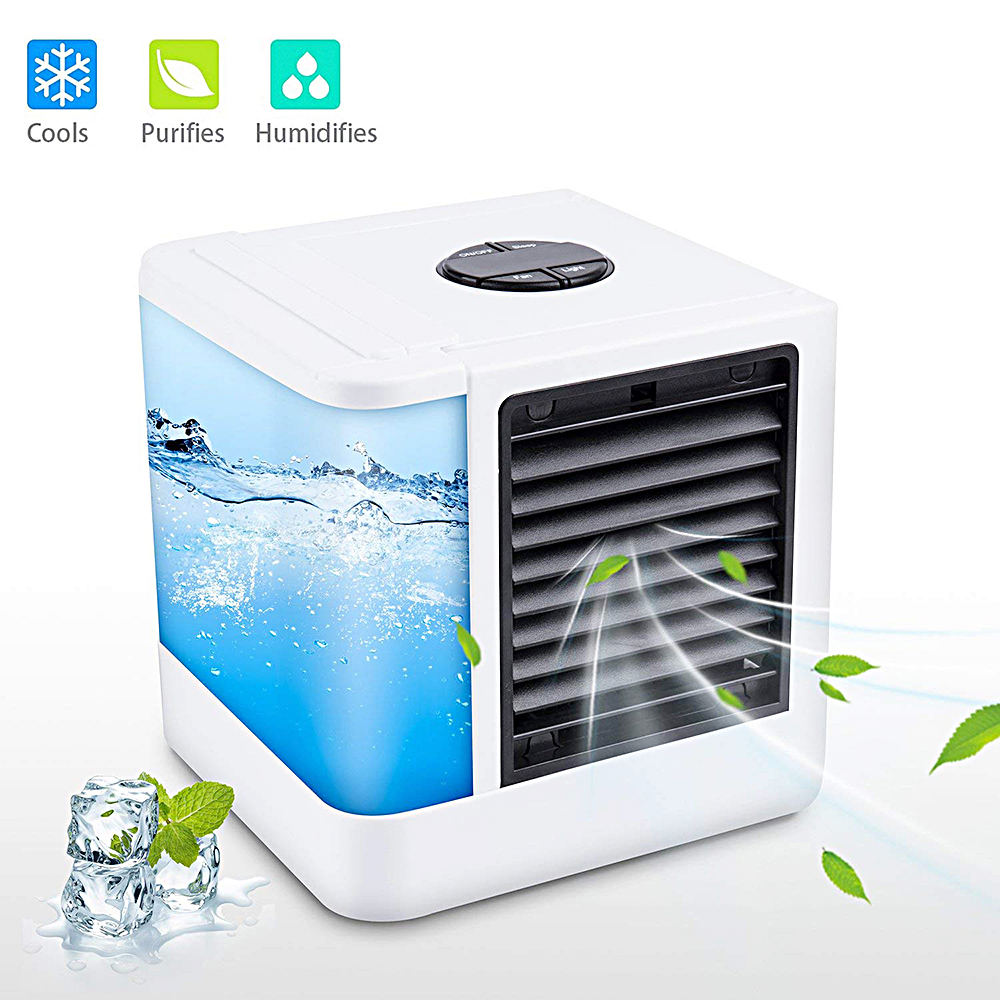 7 Colors Mini Portable Air Conditioner Humidifier Purifier USB Air Cooler Light Desktop Air Cooling Cooler Fan For Home Office