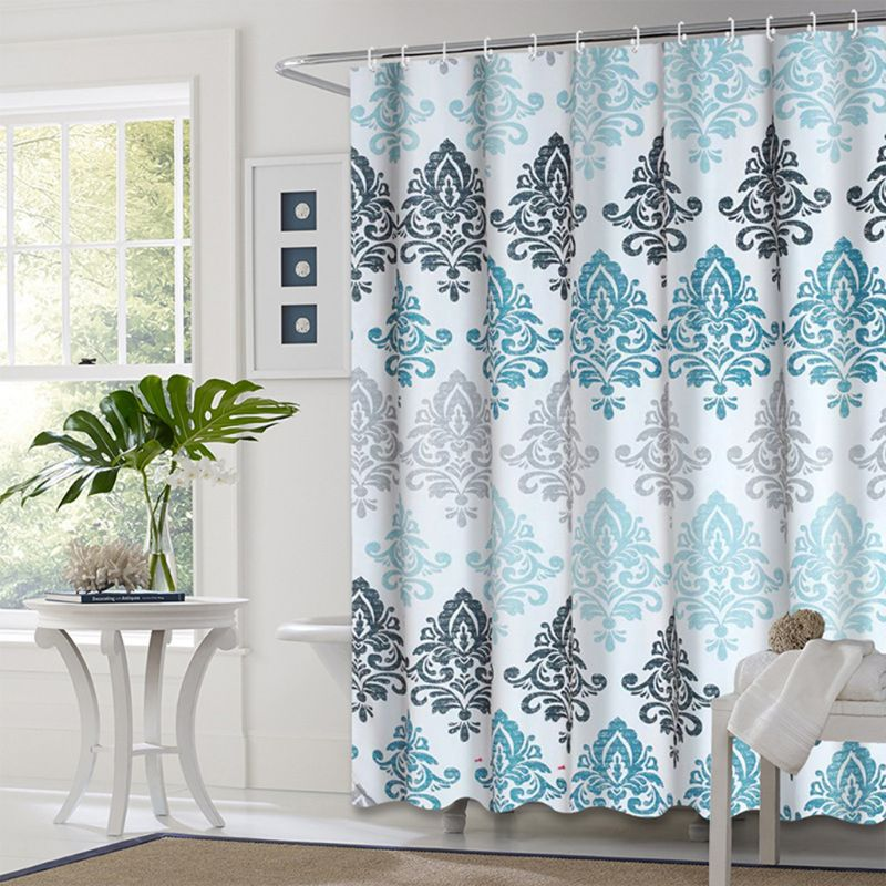 European Style Shower Curtain Bathroom Fall Curtains Waterproof Cloth for Shower Room Bath Use-3