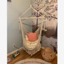 Hanging Rope Chair Swing Chair Seat Hammock Bohemian Mesh Wo