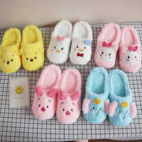 Cartoon Slippers Dumbo Pig Women Pink Cat Anti-Slip Indoor Home Slippers Anime character Shoes Bedroom Warm Soft Christmas gift