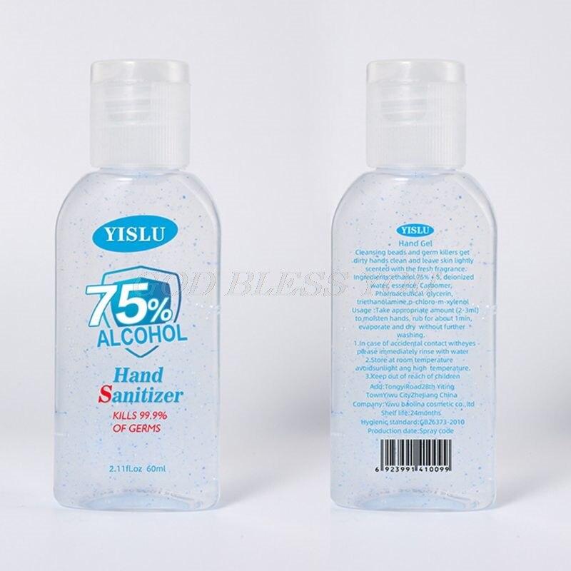 60ml Hand Sanitizer Gel 75% Alcohol Disposable No Clean Portable Disinfectant