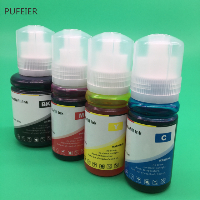 4PCS 502 102 104 T502 T102 T104 Refill Farbstoff Tinte Kits Für Epson ET 2700 ET 2710 ET 2711 ET 2750 ET 3700 ET 3750 ET 4750