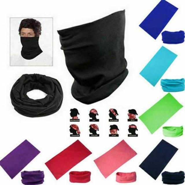 20 color Women Men Outdoor Sports Bandana Scarf Headwear Solid color Face Mask Riding Cycling Headscarf Tube Wristband Headband 3