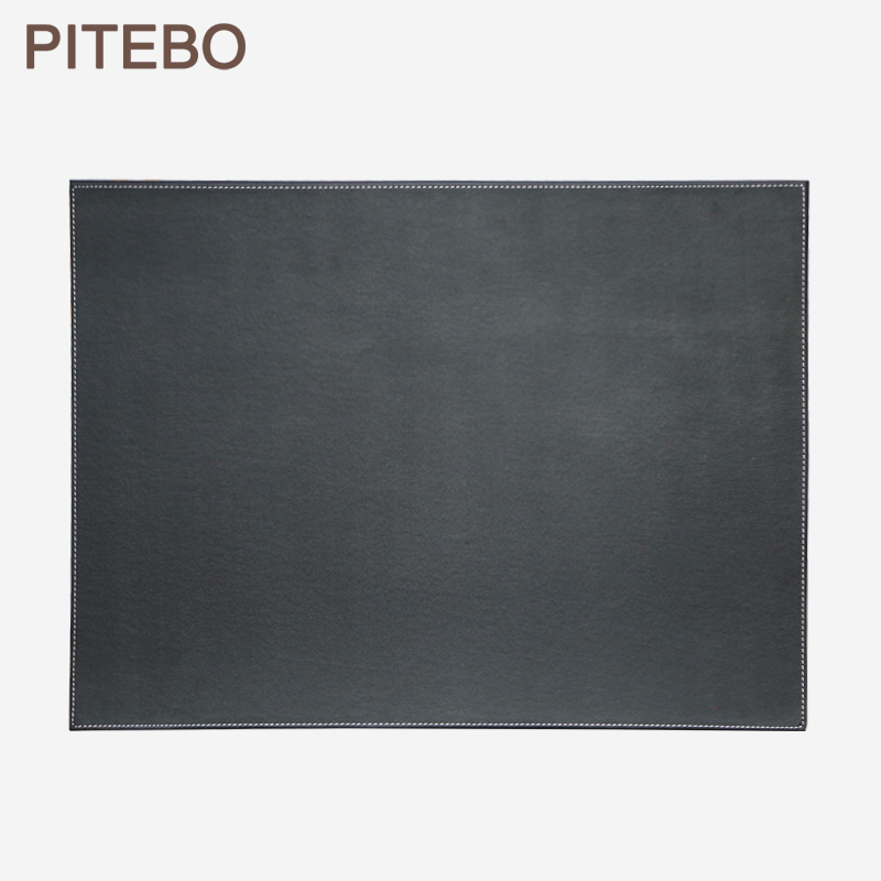 PITEBO leather office desk file paper clip drawing & writing board writting pad tablet black title=
