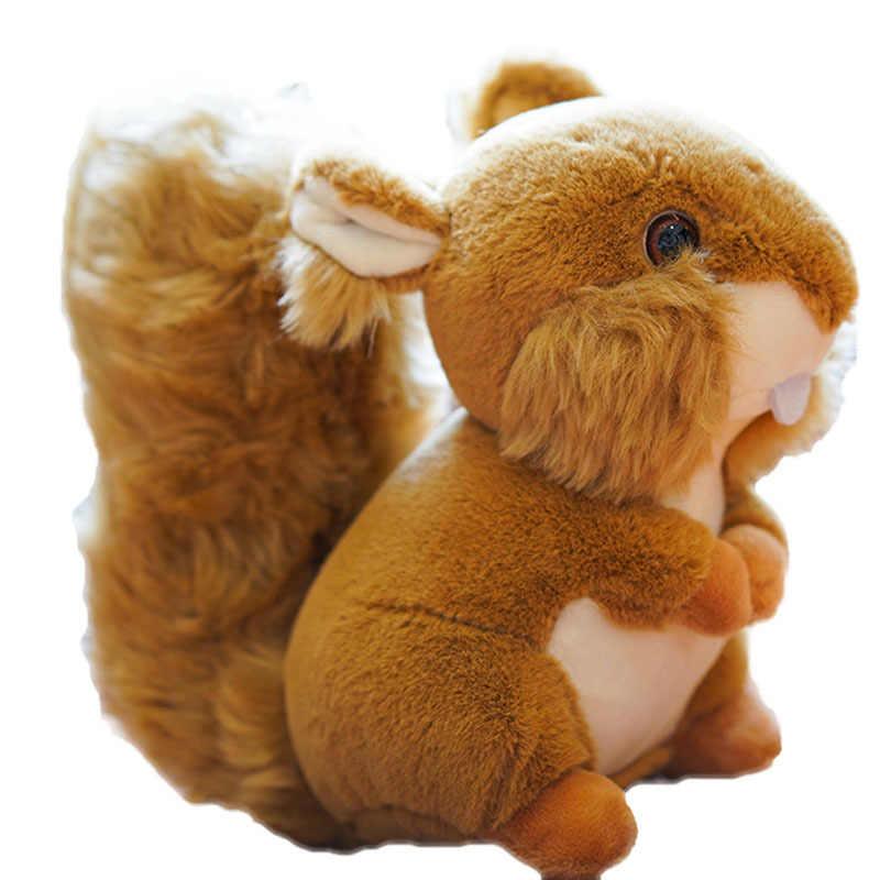 Symulacja Kawaii wiewiórka pluszowe zabawki z dużym puszysty ogon wiewiórki lalki wypchane zabawki pluszowe-zwierzęta dla dzieci dziewczyna prezent urodzinowy