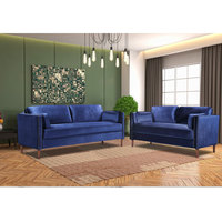 2 Pcs/set Sectional Sofa Home Living Room Wooden Frame 2P 3P Spring Couch Classic Household Furniture Sectional Sofa Kit