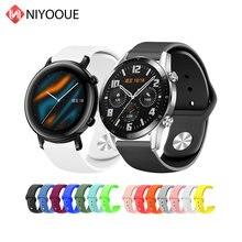 Ремешок силиконовый для смарт часов huawei watch gt2 gt 2 спортивный