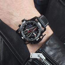 리프 타이거/RT 새로운 도착 모든 블랙 브랜드 럭셔리 방수 손목 시계 스테인레스 스틸 크로노 그래프 Relogio Masculino RGA3591