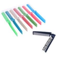 Складная двухголовая зубчатая расческа для волос Женская портативная