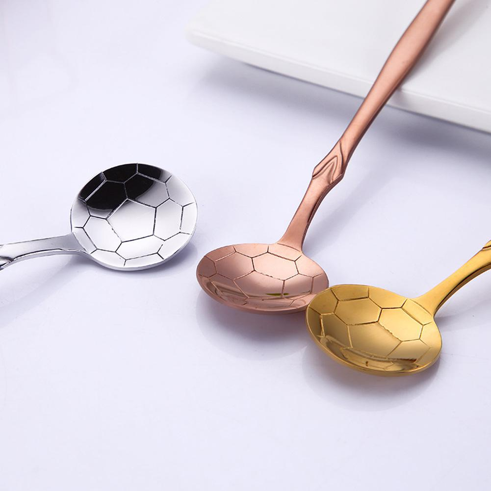 Stainless Steel Football Spoons Coffee Tea Spoon Flatware Drinking Tool