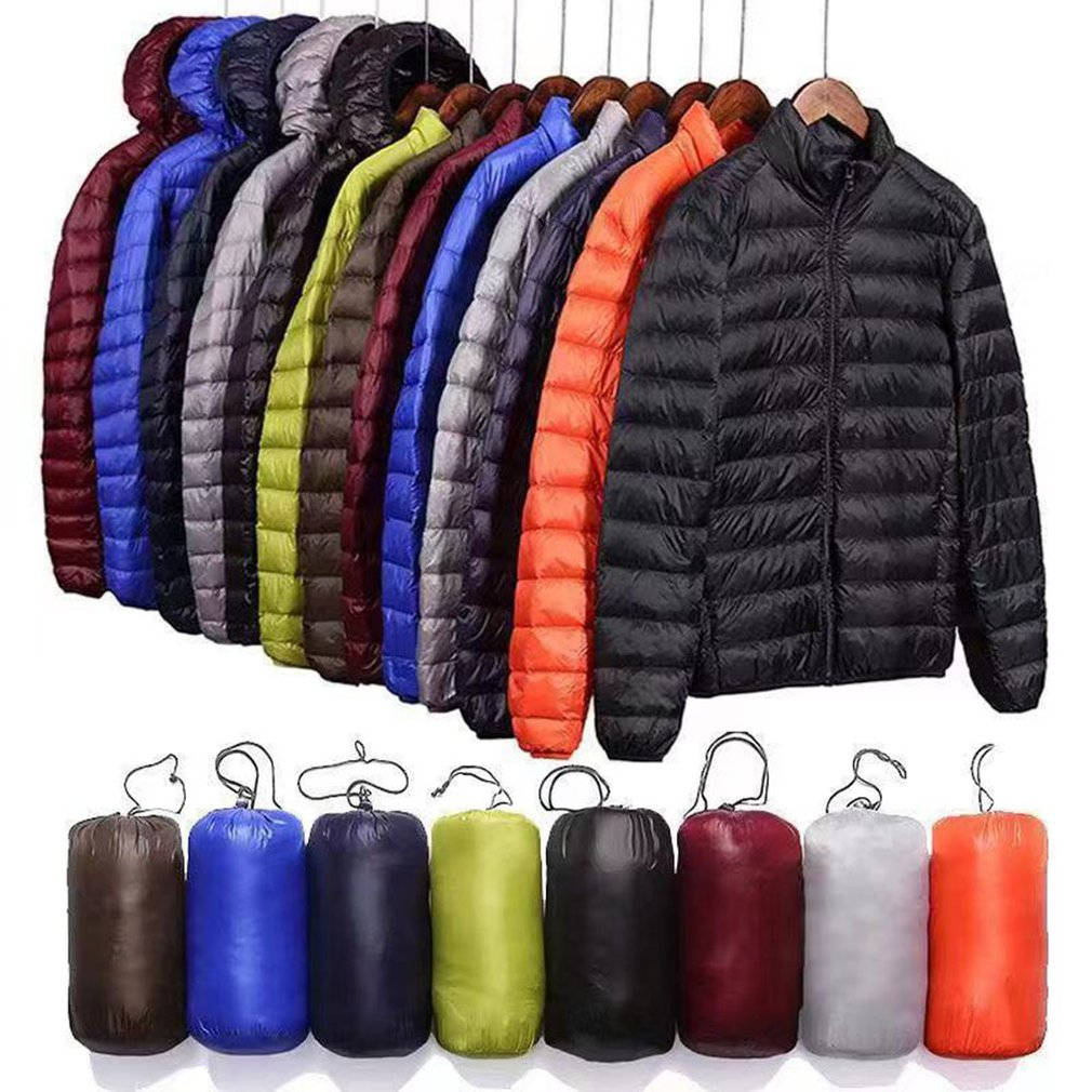 Puffer-Coat 90%Down-Jacket Winter Short Youth Lightweight Men Hooded Men's Casual title=