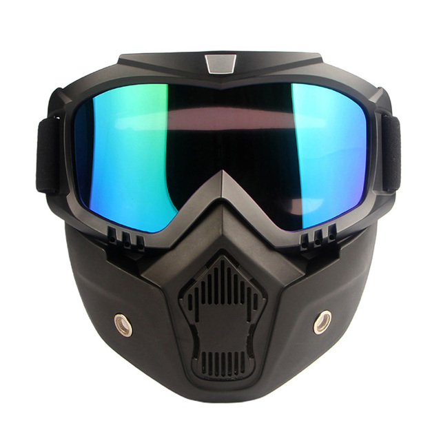 High Quality Full face shield Saliva protection Masks Anti-pollution Dust Detachable Filter Mouth Mask Goggles Respirator 2