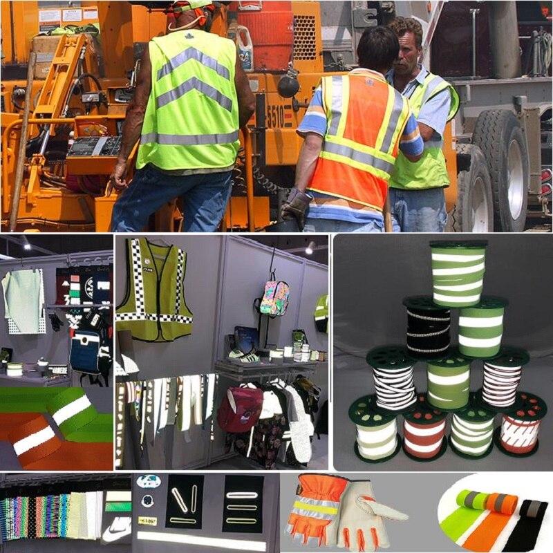 Highlight Reflective Webbing Reflective Fabric Fluorescent Ribbon Luminous Warning Safety Belt Garment Accessories
