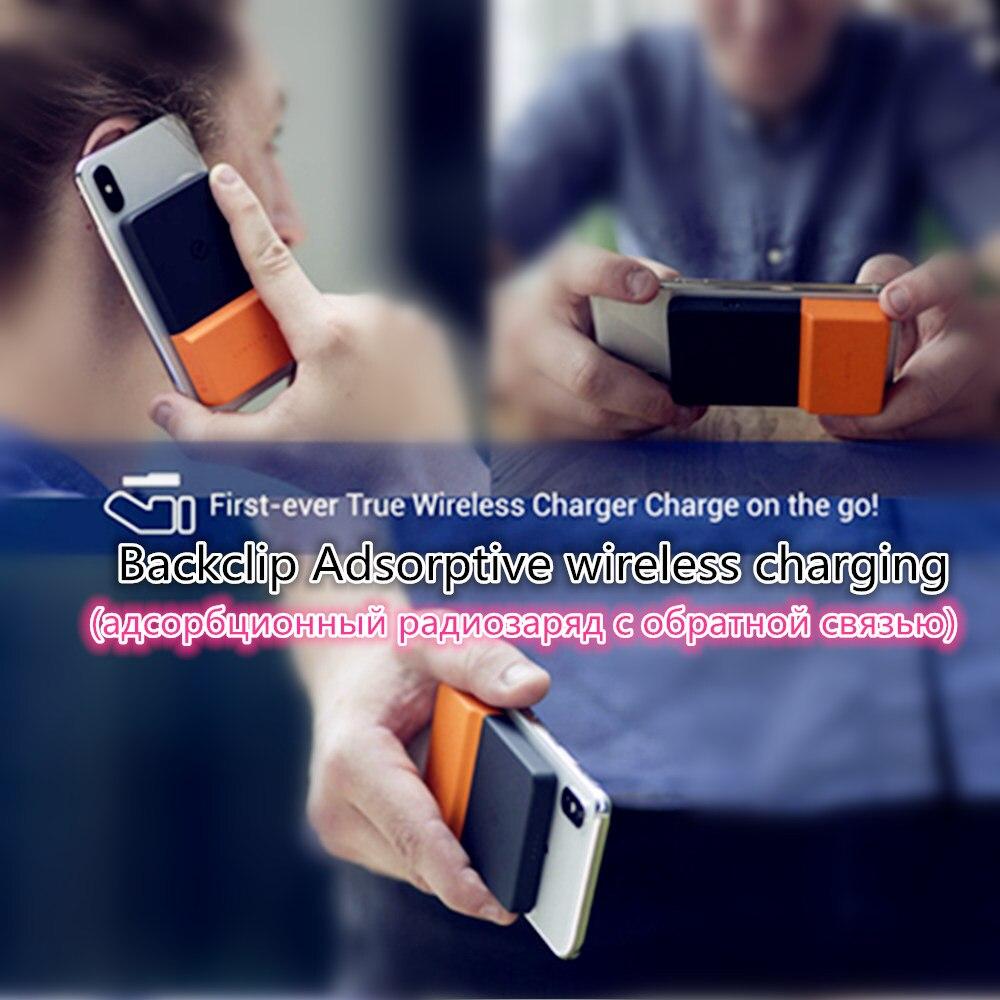 2019 plus récent sans fil Powerbank Ultra-mince Portable batterie Charge étui pour iphone X/XS Huawei P20 adsorbant sans fil Charge