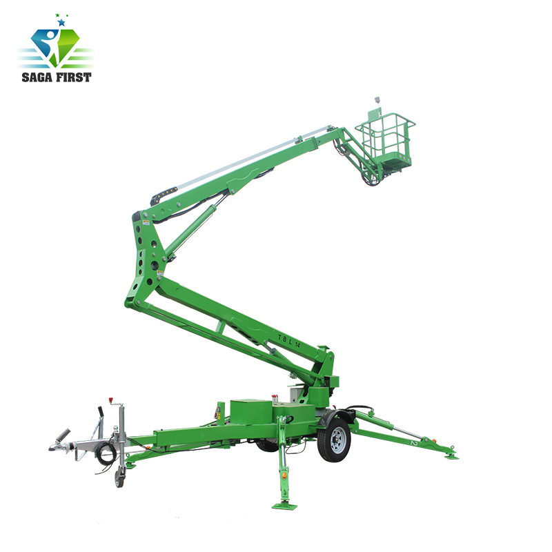 6m 10m Towable Trailed Boom Manlift Spider Boom Lift