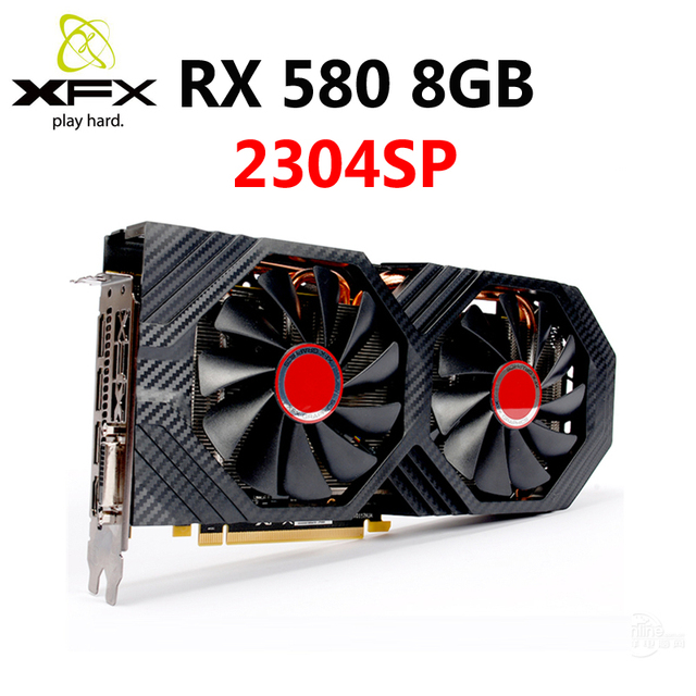 XFX RX 580 8GB Graphics Cards 256Bit GDDR5 Video Card For AMD RX500 series VGA Cards RX580 8GB HDMI DVI RX580 8GB 2304 Used