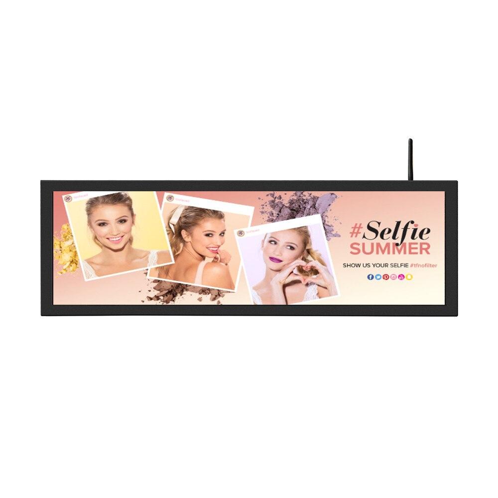 Affichage de publicité d'affichage à cristaux liquides de Type de barre tendue par écran Ultra large de moniteur de wifi de 60 pouces pour l'étagère de supermarché de café - 5